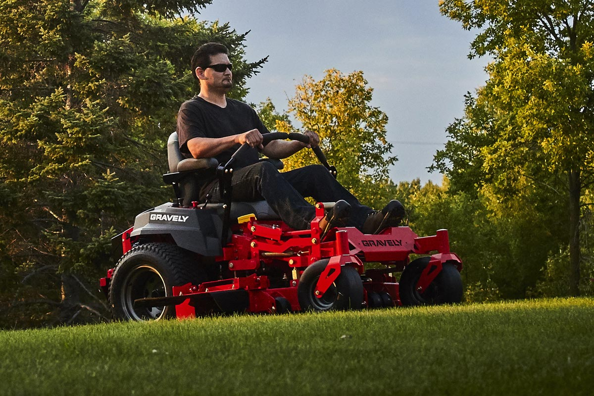 gravely outdoor power equipment mower mowing yard